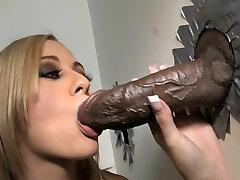 Mae Meyers Takes Big Black Cock - Gloryhole