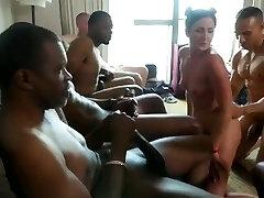 hotwife in interracial cuckold gangbang