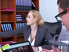 Boobylicious office enchantress got some dick installed in her cunt