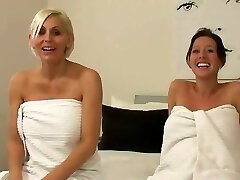 Two pregnant girls and shaving