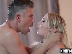 Natural tits pornstar smacking and cumshot