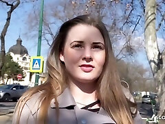Curvy All-natural Schoolgirl Lucie Talk To Smash At Real Pickup Street Casting
