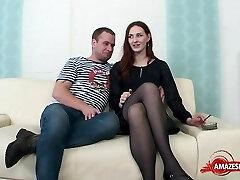 Hot wife sex with cum shot