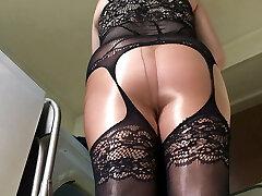 Spandex Angel - Sexy bodystocking taunt