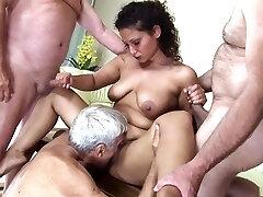 Incredible pornstar in horny mature, gangbang hardcore video