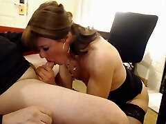 Lengthy slow bj and she swallows it all