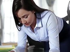 Keisha Grey Plumbs Submissive Secretary Karlee Grey