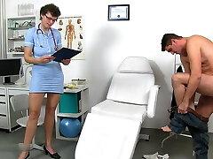 Dr. Erma at work does not wear undies