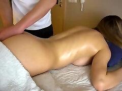 Teen girlfriend gets voluptuous massage