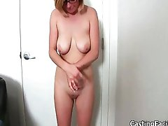 Busty blonde slut from BackRoomFacials