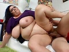 BBW MILF with huge congenital hangers