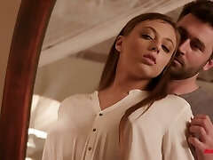 Aggressive pounding of shaved inviting pussy of Gia Derza is worth some watching