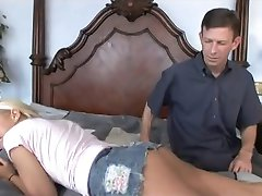Babysitter Babe with Old Man