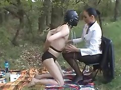 Outdoor Slave Training: Boots, Servitude & Whipping