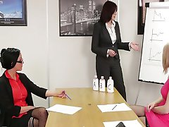 Three girls are lotion testing