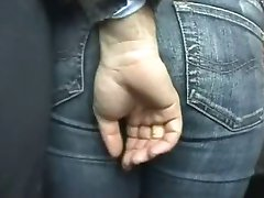 Girl touched in the bus