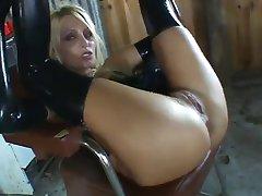hot blonde latex fuck
