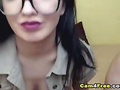 Beautiful Nerdy Teen Got Her Asshole Pounded
