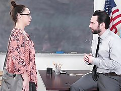 InnocentHigh - Schoolgirl Fucks Her Way Out Of Trouble