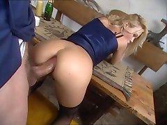 Cute blonde Camilla Krabbe prefers anal