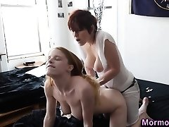 Nubile mormon bang strapon