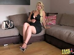 FakeAgentUK Blonde wannabe loves deep-throating and plowing