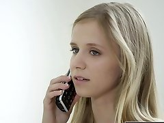 BLACKED Petite blonde teen Rachel James first large black cock