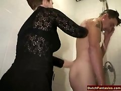 Ugly Dutch Granny Fucks Office Dude