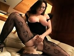 Pantyhose face sitting and oral pleasure sex on a bed