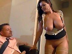 Buxomy secretary Jasmin pleases her boss