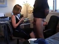 A ball fapping CFNM Hand Job by blonde wife