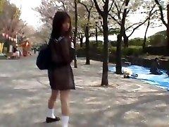 Mikan Astounding Asian schoolgirl enjoys part1