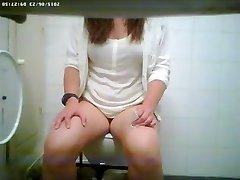 Toilet spy cam filmed a wondrous  vixen pissing