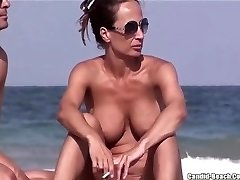 Nude Beach MILFs Puss FROM SEXDATEMILF.COM Close Ups Hidden Cam Voyeur