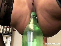 Ava Devine bottles and faux-cocks extreme injection