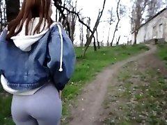 veřejný sex nahý v parku - amatérský pár venku