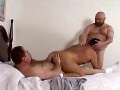 Crazy male in splendid bareback, bears homo porn clip