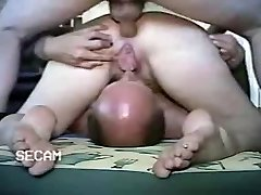 Amateur - Bisexual MMF Bareback Cumpilation