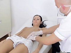 Skinny Slut Martina Gets Felt Up By Therapist