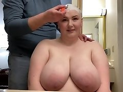Giving BBW Slick Bald Head Shave