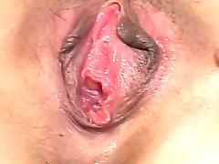 Masturbating Tied Hairy Asian Pussy