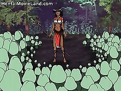 Ebony hot body big boobed anime babe part1