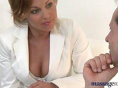 Massage Rooms Sexy Milf Silvia enjoys cock