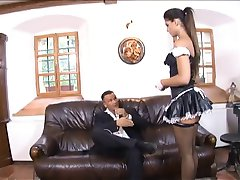 Naughty Brunette Maid Anal