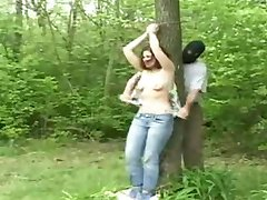 Hazel tied to a tree and used Part 1