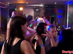 Cumshot loving euro babes facialized at party