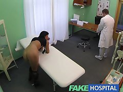 FakeHospital Mature sexy cheating wife needs doctors help for something the gardner gave her