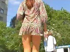 Beauty Upskirt in The Park by Voyeur TROC