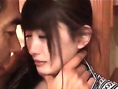 Jap horny guy enjoying a pair of firm tits and a teen small pussy