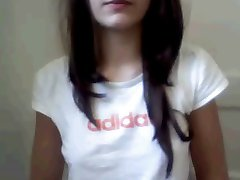 Webcam Teen Girl fingers in Bathroom
